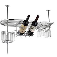 Fashion hang upside down wine rack bar wine holder