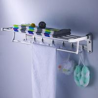 Bathroom space aluminum towel rack towel bar bathroom shelf