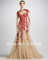EL1008 elie saab evening dress 2013 evening gowns red