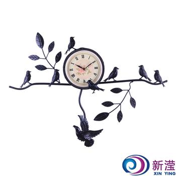 Fashion indoor decoration wall flowers yack wall clock