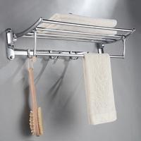 Stainless steel folding towel rack bathroom shelf towel bar
