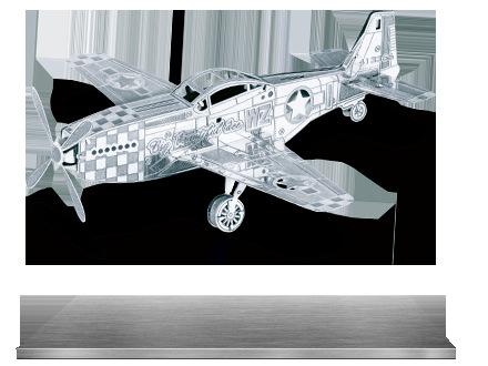 Full metal diy assembling model p51 fighter glue kit(China (Mainland))