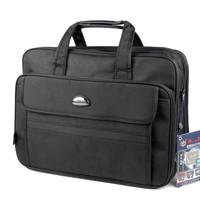 17 broadened laptop bag thickening multi-layer zipper pocket handbag shoulder bag messenger bag