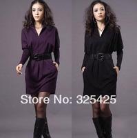 Женская одежда из шерсти 2013 Classical Slim Women Coats, Fashion Single Breasted Medium-long Woolen Coat For Women, Winter Skirt Sweep Overcoat, Asian Size