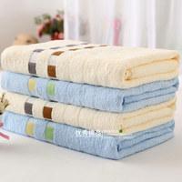 Vosges 100% cotton bath towel elegant square grid baby bath towel soft thick towel absorbent
