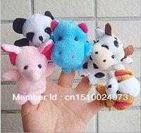Baby plush toys, cute animal model of dual finger shape