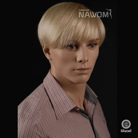 FREE SHIPPING Short Straight Blond men wigs Synthtic hair wigs for men best quality european Popular 100% Kanekalon men wigs
