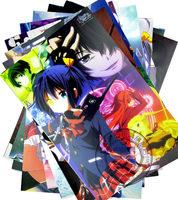 8pcs--16.5''x11.4'' Anime chuunibyou demo koi ga shitai Cosplay  Thick Embossing Posters Wall Sticker Gift  Free Shipping!