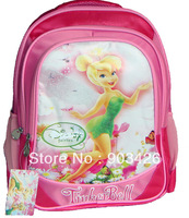 40pcs/lot Free Shipping Via DHL! Fashion Tiker Bell School Bag for Girls Cartoon School Backpack Rucksack G3083 Wholesale