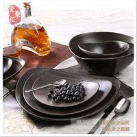 Ceramic western-style dish dinnerware set tableware top asa shaped steak plate bowl
