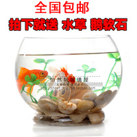 Transparent Medium glass fish tank goldfish bowl turtle tank base glass fish tank
