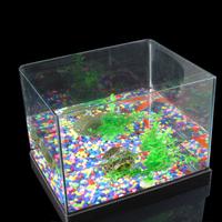 Transparent Large glass fish tank aquarium goldfish bowl square fish tank