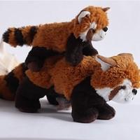 Free shipping Retail 1PCS White kidsfromotionig brown raccoon plush doll toy a22-2