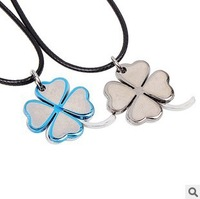 Kawaii fashion necklace Valentine's Day Gift pendant accessories Clover