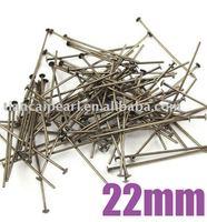 WWEL88922mm Anitque Bronze Metal Headpins Head Pin