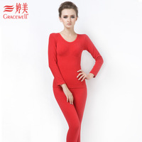 Underwear shaper magnetic thermal clothing women's long-sleeve set te0974x01