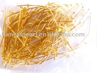 Nickel Free,DIY Jewelry Findings-45mm Gold Plated Ball Head Pin