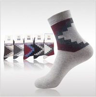 Free shipping autumn - winter 2013 new men's warm wool socks, thick mens thermal in tube sock trapezoidal1lot=10pair=20pcs LH371