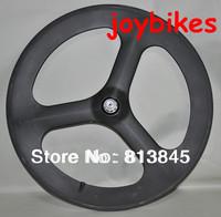 Full Carbon, best 3 spoke road/track bicycle/bike REAR wheel, free shipping