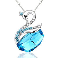 925 pure silver necklace female short crystal necklace female pendant birthday gift