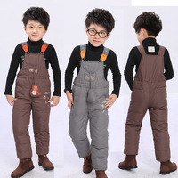 Child down coat down pants children's clothing male child down pants baby trousers bib pants male openable-crotch