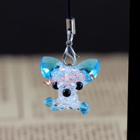 Crystal knitted mobile phone chain small accessories small chigoes