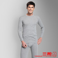 Bsa men's o-neck thin thermal underwear set padded underwear foundation 21845d 1