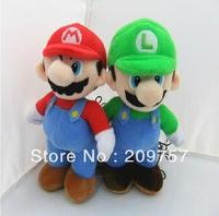 Wholesale/Retail 2pcs Super Mario Bro. MARIO & LUIGI Plush Soft Doll Toy  Set