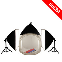 Photographic Equipment Set Including 60cm Photostudio Lighting Softbox Photography Light Stand