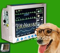 *Built-in Printer* CE FDA Approved CMS8000 Veterinary ICU Patient Monitor ECG NIBP PR Spo2 Temp Resp , 12.1 TFT Dispaly for VET