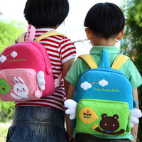 Small fabric cartoon child backpack kindergarten school bag anti-lost small school bag