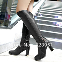 drop shipping 2013 New Hot Fashion sexy ladies' boots Women Knee High boots women shoes big size 34-43