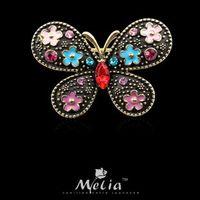 Fashion accessories personalized butterfly brooch rhinestone brooch gentlewomen vintage brooch corsage cute pins accessories