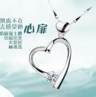 Accessories heart women's short design 925 pure silver necklace hearts and arrows pendant gift