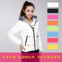2013 with a female winter hood hooded down cotton cotton-padded jacket female outerwear design short cotton-padded jacket