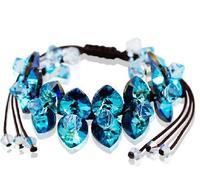 Austria crystal blue bracelet handmade diy fashion wide bracelets female accessories gift fashion