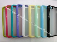 for iphone 5C soft TPU gel clear DUAL COLOR case cover 10000pcs/lot