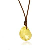 Austria crystal antique green peas short design necklace female fluid wax cord accessories