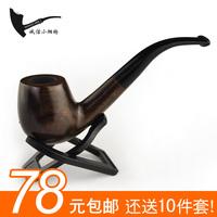 Piece set ebony wood handmade wood cut tobacco smoking pipe