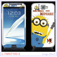 100pc Despicable Me Series Front Back Touch Screen Protective Film For Samsung Galaxy Note2 N7100;Screen Protector For Wholesale