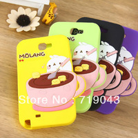 1PCS Little Bean Potato Coffee Rabbit 3D Silicone phone cases for samsung galaxy s4, New Cartoon Lovely Animal Cellphone Cases