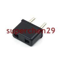 New !!!! Black US USA To EU European Travel Charger Plug Adapter Converter Free Shipping