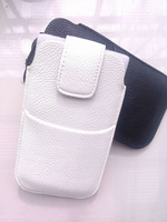 HKP ePacket Free Shipping with credit card bag Leather Pouch phone bags cases for philips w832 Cell Phone Accessories