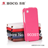 100% Original HOCO Lizard pattern flip leather case  for iphone 5C, Cow Leather Case For iPhone 5C Free Shipping