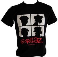New Gorillaz ,BandT-shirt Classic Logo Men's T-shirts tshirts O-neck Cotton Tee Shirt Male S/M/L/XL/XXL