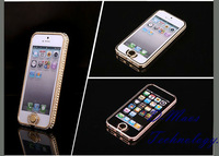 For iPhone 5 5s Case Brand Newsh Luxury Grand Diamond Aluminum Perfect Fit Lady Style For iPhone5s Wholesale Hot Skin Cover