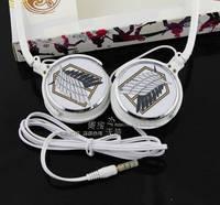 Cool Attack on Titan Fashion originality headphones Survey corps style 3.5mm headband Free shipping