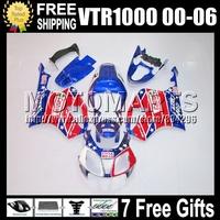 For HONDA VTR1000 RTV RC51 SP1 Castrol Red SP2 VTR 1000 R 46 VTR 1000 1000R RTV1000 NEW Red blue 00 01 02 03 04 05 06 Fairings