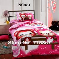 New 2014 home textile 100% cotton twin size children bedding set for single bed,3pcs duvet cover set,bed linen