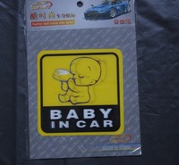 3D Cool Baby on Board baby in car window Sticker Vinyl Decal FREE SHIPPING